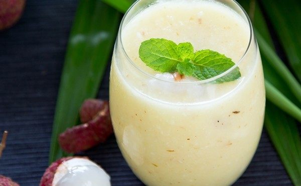 Lychee and Lime Yogurt Lassi